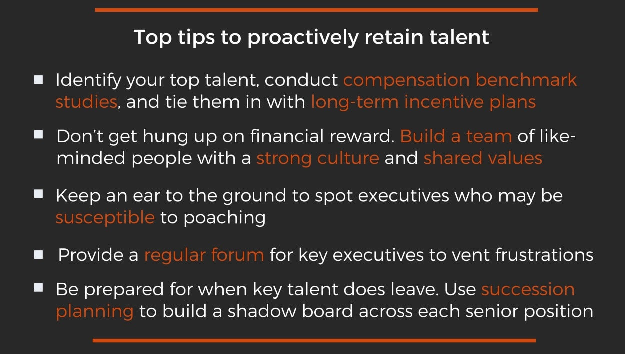 Tips to proactively retain talent